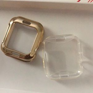 Gold + Clear Apple Watch screen protectors
